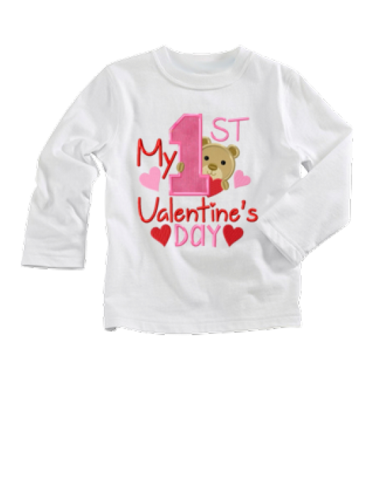 Cute Baby Graphic Printed Full Sleeve Valentine My First Valentine T-Shirt